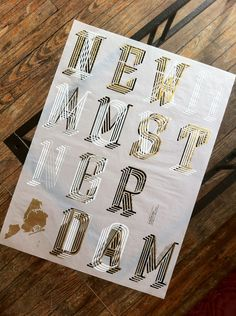 I Am Moving to New Amsterdam, poster submitted and designed byYomar Augusto(2012) –Type OnlyUnit Editions