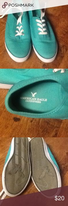 American Eagle Sneakers size 9 Beautiful color sneakers. Wore only one time. Too snug for my foot. My loss, your gain. Size 9 american eagle Shoes