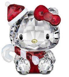 Swarovski Crystal Figurine #1142935, Hello Kitty Santa | the Hello Kitty Collectionary