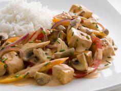 Tofu and Mushroom 'Stroganoff'!