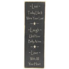 "Messenger Sign ""Live*Laugh*Love"" Country Rustic Primitive Black $21.99"