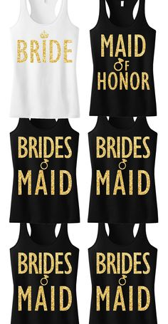Gorgeous tanks for the bride, maid of honor, and the bridesmaids! All by #NobullWomanApparel :)