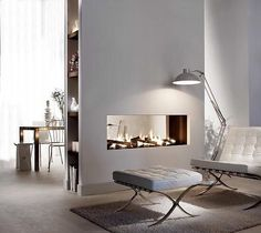 8 Vivacious Clever Tips: Contemporary Architecture Living Room contemporary bedroom home. Modern Fireplace, Living Room With Fireplace, Fireplace Design, Contemporary Fireplaces, Bioethanol Fireplace, Fireplace Shelves, Gas Fireplace, Contemporary Office, Contemporary Bedroom