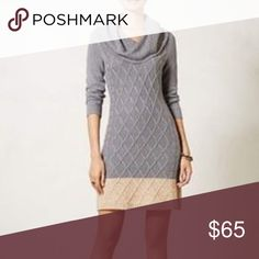 Anthropologie Sparrow Sweater Dress Only worn two or three times. Super cozy and looks great with tights and booties or tall boots.  I've even worn with heels. Quite figure-flattering drape. Anthropologie Dresses