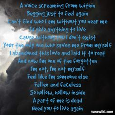 lyrics from Faceless by Red Cool Lyrics, Music Lyrics, Soul Music, Music Is Life, Christian Rock Bands, Christian Songs, My Favorite Music, Favorite Quotes, Song Lyric Quotes