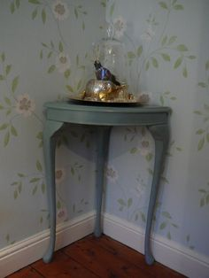 chateau gray furniture | ... table painted in Annie Sloan's Duck Egg Blue over Chateau Grey. £49