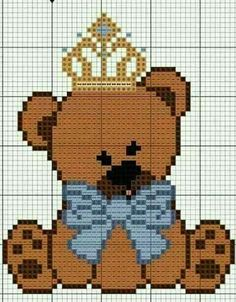 70cea12e02ab104eef8297858c3cb174 378 best pc teddy bears images cross stitch embroidery, cross