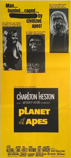 Planet Of The Apes original 1968 Australian Daybill movie poster. Available to purchase from our website.