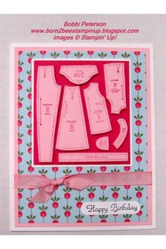 Pattern pieces birthday card
