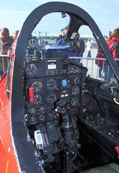 Fouga Magister - Cockpit
