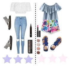 """""""Which outfit?"""" by jennisa-penner on Polyvore featuring Miguelina, Topshop, Chicnova Fashion, sanuk, Dorothy Perkins, Forever 21, Terre Mère and Le Métier de Beauté"""