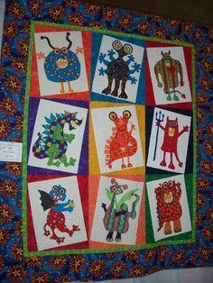 Sue Garman Monster Quilt Pattern - Google Search