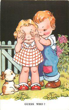 Dinah postcard - Guess Who?