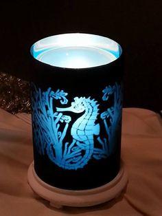 Seahorse Simmering Light  #seahorse #blue #beach #ocean #theme