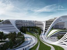 Created by Dame Zaha Mohammad Hadid a female Iraqi-British Architect and first woman to win the Pritzker Architecture Prize.