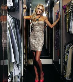 Petra looking glamorous as ever whilst showing off her amazing wardrobe and style secrets to the world. Loving the glitzy dress and pink heels! Celebrity Closets, Celebrity Houses, Big Fashion, Luxury Fashion, Womens Fashion, Petra Ecclestone, Glam Closet, Luxury Closet, Beautiful Closets