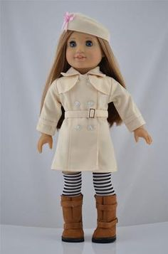 American Girl doll coat outfit