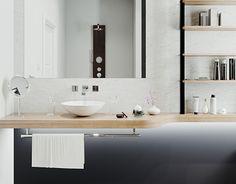 Double Vanity, Small Bathroom, Behance, Interior Design, Mirror, Gallery, Check, Furniture, Home Decor
