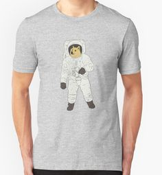 'Space Doge' T-Shirt by ntilde Birthday List, Doge, Cosmos, Essentials, Space, Mens Tops, T Shirt, Fashion, Floor Space