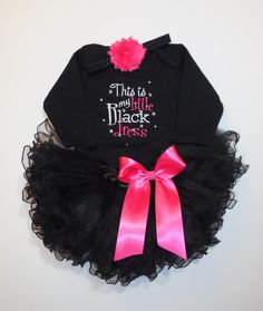 b98e80056176 This is my Little Black Dress bodysuit Tutu by LittleQTCouture, $42.00