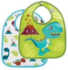 Sugar Booger Prehistoric Pals Feeding Collection Mini Bib Gift Set of 2  #WhimsicalUmbrella #Kids #Gift whimsicalumbrella.com