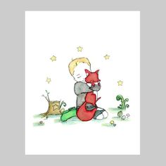 this is wiley to perfection!  little blond boy hugging a fox to bits.  i could do with a brighter colored sweater, put i'd love to have a drawing like this on my wall!