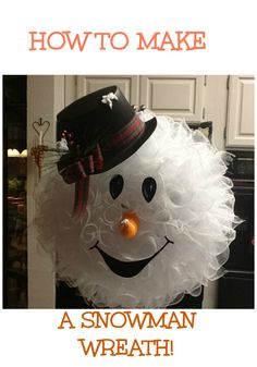 Peggy Bond shares how she made her snowman wreath! Check out her tutorial here!