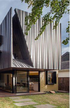 Myamyn Street Residence, Melbourne (Australia) by Nicholas Murray Architects #architecture #facade #zinc #anthra-zinc-plus #individual-housing