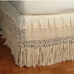 Knotted Fringe Bed Skirt