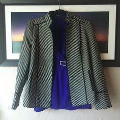 Beautiful lined Striped Blazer Very classy, fits like 4-6. Chicos size 0. Chico's Jackets & Coats Blazers