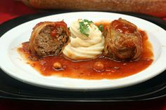 Stuffed Cabbage Rolls – Like Grandma Used To Make - One of my fondest memories from childhood was Saturday visits from my maternal grandparents. They would arrive bearing bags loaded with gifts and food, eyes twinkling as we ripped the bags from th. Cabbage Rolls Recipe, Cabbage Recipes, Meat Recipes, Cooking Recipes, Healthy Recipes, Polish Recipes, Beef Dishes, Food Dishes, Dining