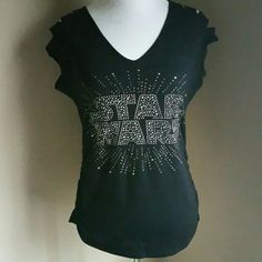 Rock & Republic Star Wars Embellished knit top NWT Rock & Republic Star Wars Embellished knit top NWT Sexy Cut out shoulders, side rouching, and super soft! From a smoke free home Rock & Republic Tops Tees - Short Sleeve
