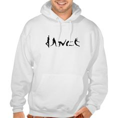 Dance Dancing Silhouette Design Pullover Hoodie T-Shirt