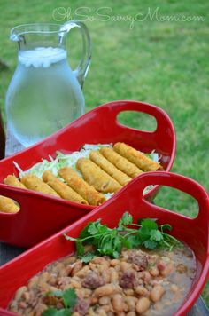 Surprise everyone on game day with El Monterey Beef Taquitos paired perfectly with the delicious Frijoles Charros recipe by @OhSoSavvyMom. #MomWins