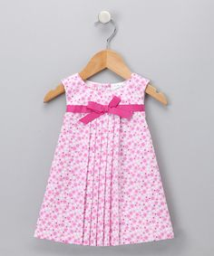 Pink Dot Pleated Dress - Toddler $11.99