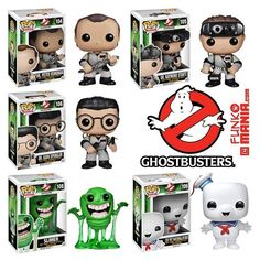 Ghostbusters Funko Pop figs, coming soon! Must. Have.