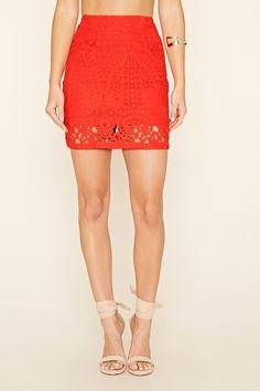 Crochet Overlay Mini Skirt