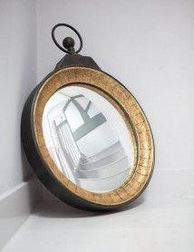 Pocket Watch Convex Mirror