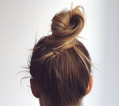 Simple (and beautiful) bun. // In need of a detox? Get 10% off your teatox using our discount code 'Pinterest10' at skinnymetea.com.au