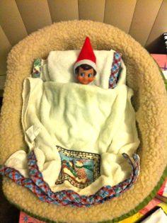 Elf taking a nap