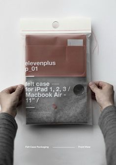 Packaging - elevenplus - Case for iPad / Macbook Air - Felt, Leather. Underwear Packaging, Clothing Packaging, Packaging Box, Plastic Packaging, T Shirt Packaging, Bubble Wrap Packaging, Vacuum Packaging, Cardboard Packaging, Design Packaging