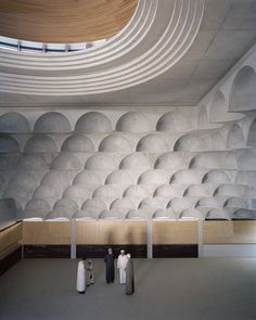 Brutalist mosque in Sydney features ceiling with 102 concrete vaults - Projects, Contemporary Mosque, Mosque, Islamic Architecture, Australia - MEA Architecture Design, Sacred Architecture, Cultural Architecture, Australian Architecture, Classical Architecture, Residential Architecture, Contemporary Architecture, Concrete Architecture, Contemporary Houses