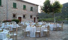 Early dinner ready at Son Berga Weddings in Mallorca