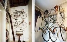 Image result for bike rack wall office #bicyclehanger