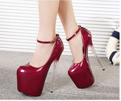 Free shipping the new spring 2015 high to 20 cm heel shoes nightclub sexy patent leather high heels-in Pumps from Shoes on Aliexpress.com | Alibaba Group
