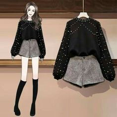 Korean Girl Fashion, Ulzzang Fashion, Kpop Fashion Outfits, Girls Fashion Clothes, Mode Outfits, Cute Skirt Outfits, Cute Casual Outfits, Stylish Outfits, Fashion Drawing Dresses
