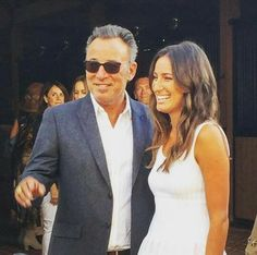 Bruce Springsteen celebrating Jessica on the cover of Beach Magazine