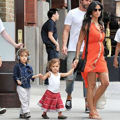 hot mama Camila Alves McConaughey with son Levi and daughter Vida (pregnant with son Livingston at the time) July 27, 2012