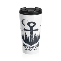 The ultimate gift for adventure lovers. Stainless coffe mug Gift Mugs, Gifts In A Mug, Customised Mugs, The Ultimate Gift, Stainless Steel Travel Mug, Best Gifts, Lovers, Adventure, Tableware