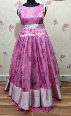 Organza checks designer longfrock Trending organza checks long gown by viviktha # designer long frocks # Indian dresses # Indian ethnic outfit # designer dresses # traditional wear<br> Long Gown Dress, Chiffon Dress Long, Organza Dress, The Dress, Outfit Designer, Designer Dresses, Girls Frock Design, Kids Frocks Design, Long Frocks For Girls